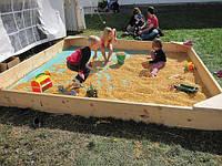 Детская деревянная песочница 2000х2000
