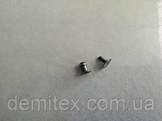 Кобурной гвинт чорний нікель 5мм головка
