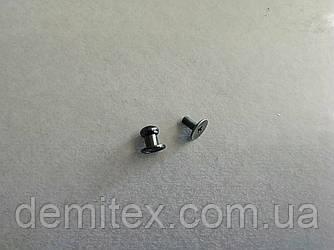 Кобурной гвинт чорний нікель 6мм головка