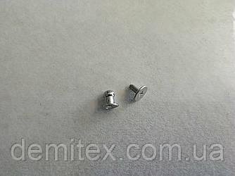 Кобурной гвинт нікель 5мм головка