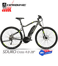 Электровелосипед 28 HAIBIKE SDURO Cross 4.0 рама XL серый (4540480960)