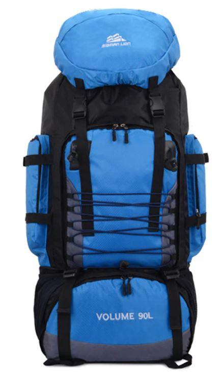 Рюкзак туристический S1907 90 л, голубой