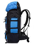 Рюкзак туристический S1907 90 л, голубой, фото 3