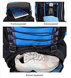Рюкзак туристический S1907 90 л, голубой, фото 7