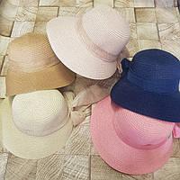 Женская шляпа с бантом