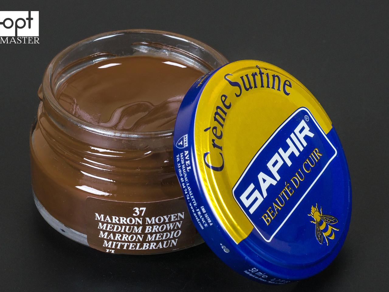 Увлажняющий крем для обуви Saphir Creme Surfine, цв. средне-коричневый (37), 50 мл (0032)