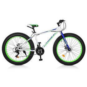 Велосипед FAT BIKE 26 Д. EB26POWER 1.0 S26.3 бело-синий