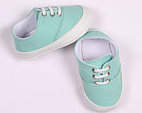 Детская обувь, кеды, пинетки для малышей белые, мятные , синие, коричневые размер 17, 18, 19