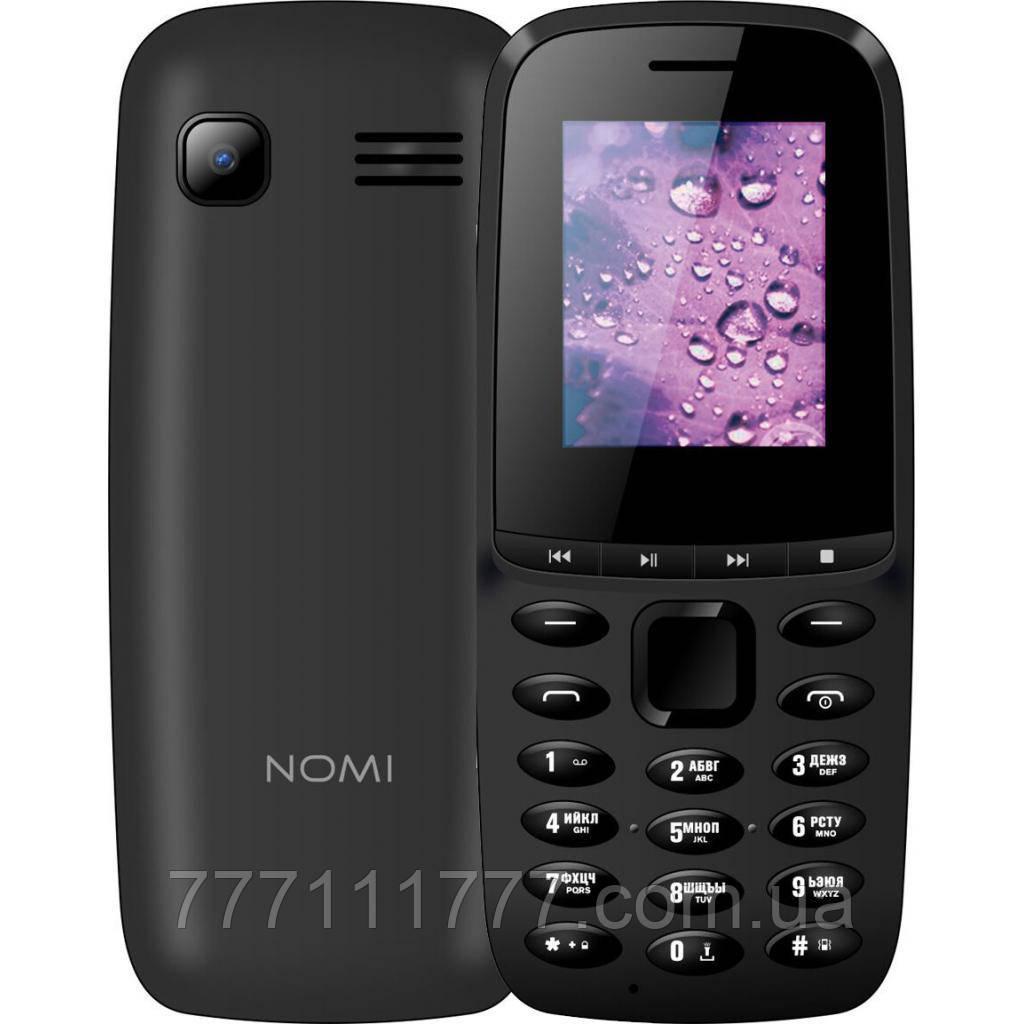 """Кнопочный телефон номи не дорогой простой с удобными кнопками на 2 sim Nomi i189 Black 1.77"""" АКБ 800 мА*ч"""