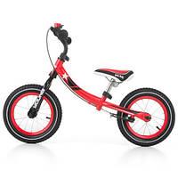 Велобіг від дитячий Milly Mally Young з ручним гальмом (беговел, самокат-беговел, дитячий транспорт)