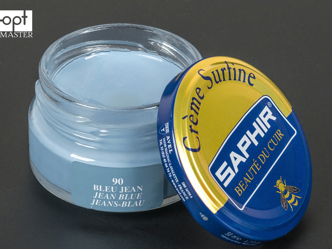 Увлажняющий крем для обуви Saphir Creme Surfine, цв. голубая джинса (90), 50 мл (0032)