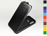 Откидной чехол из натуральной кожи для Huawei Honor 20 Lite