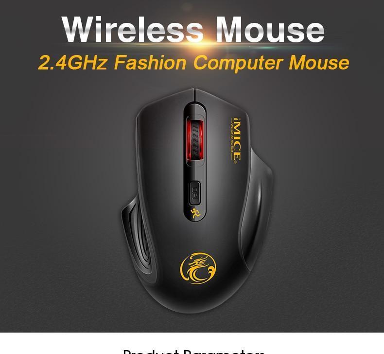 IMice G1800 бесшумные кнопки беспроводная мышь бесплатна доставка с пром оплатой