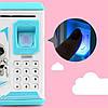 Копилка сейф с кодовым замком Robot Bodyguard 906 с отпечатком пальца и часами, фото 8