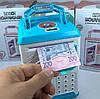 Копилка сейф с кодовым замком Robot Bodyguard 906 с отпечатком пальца и часами, фото 5