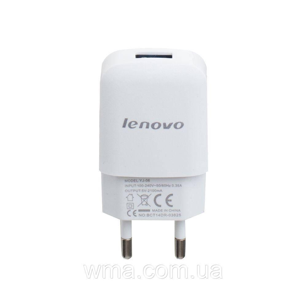 Сетевое зарядное устройство usb (Для телефонов и планшетов) Lenovo YJ-06 2A Micro AA Цвет Белый