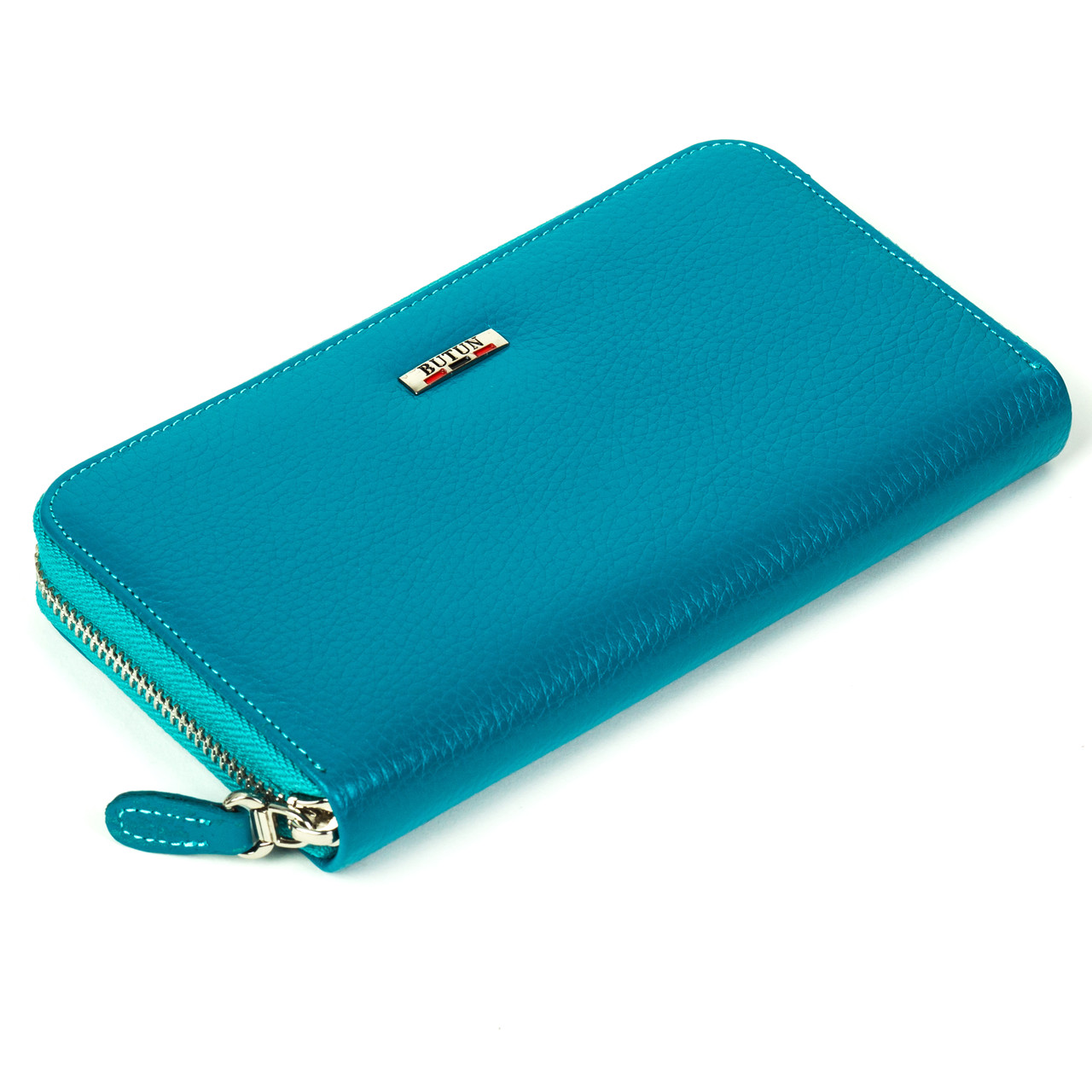 Женский кошелек Butun 639-004-050 кожаный бирюзовый