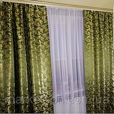 Готові штори 1,5х2,7м для спальні або вітальні з жаккарда, фото 3