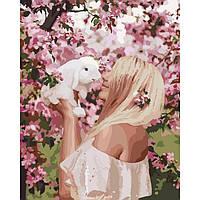 """Картина по номерам ТМ Идейка, холст на подрамнике, Люди """"Весенняя нежность"""" 40*50 см, без коробки"""