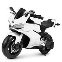 Мотоцикл M 4262EL-1 (1шт) 1мотор250W, 2аккум12V7AH, свет, колесаEVA, кож.сиденье, белый, фото 1