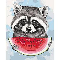 """Картины по номерам ТМ """"Идейка"""", Животные """"Летние вкусняшки"""" 40*50 см на подрамнике, без коробки"""