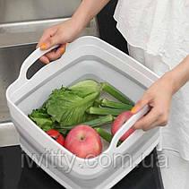 4-в-1 складная многофункциональная корзина для хранения слива фруктов и овощей, фото 2