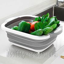 4-в-1 складная многофункциональная корзина для хранения слива фруктов и овощей, фото 3