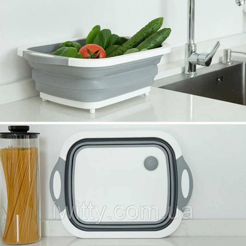 4-в-1 складная многофункциональная корзина для хранения слива фруктов и овощей