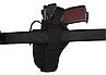 Кобура АПС (Автоматический пистолет Стечкина) поясная с чехлом под магазин (CORDURA 1000D, черная), фото 4