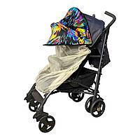 Двойной солнцезащитный козырек для коляски 2в1 с бежевой москитной сеткой Must Have Shade Фарбы, фото 1