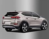 Хром накладки на задний дворник Hyundai Tucson 2015-  (Autoclover C287), фото 2