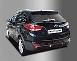 Хром накладки на задний дворник Hyundai IX35 2009-2014 (Autoclover B721), фото 2