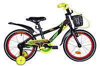 """Велосипед детский с боковыми колесами Formula Stormer 16"""" алюминиевая рама черно-красный"""