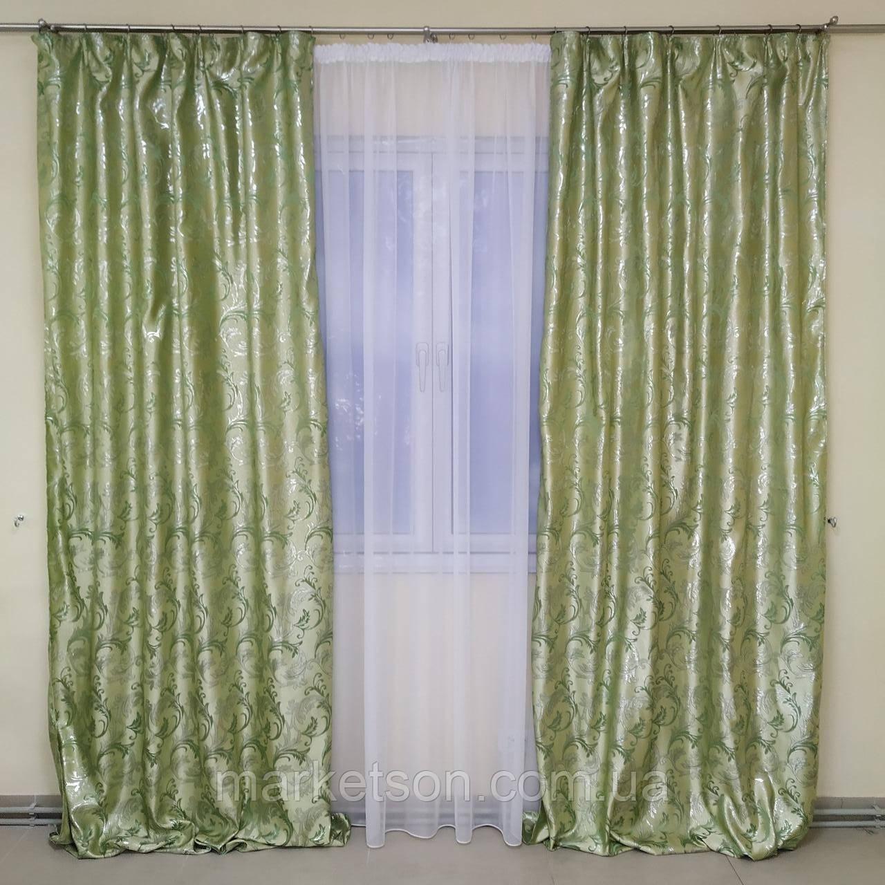 Готові штори 1,5х2,7м для спальні або вітальні з жаккарда