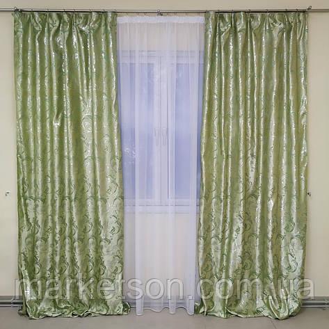 Готові штори 1,5х2,7м для спальні або вітальні з жаккарда, фото 2