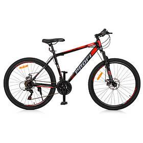 Гірський Велосипед 26 Д. G26ENERGY A26.1 чорно-червоний