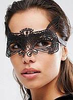 Женская карнавальная маска на глаза с ушками