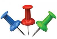 Кнопки канцелярские 4Office 4-334 50шт усиленые