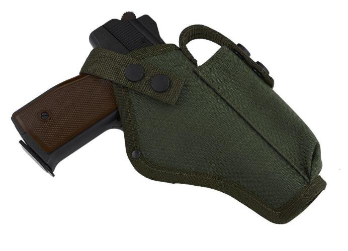 Кобура поясная для АПС (Автоматический пистолет Стечкина) с чехлом под магазин (CORDURA 1000D, олива)