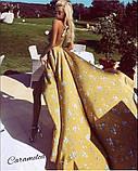 Красивое платье длинное с узором и открытой спинкой, очень мягкое,шелковое платье, фото 3