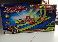 Игрушка трек с петлей 2 машинки