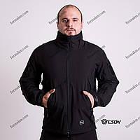 Тактическая Куртка Soft Shell ESDY TAC.-02 Police Black непромокаемая, фото 1