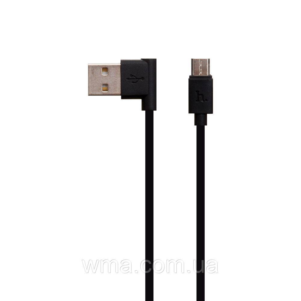 Кабель для зарядки USB (шнур для зарядки телефонов) Hoco UPM10 L Share Micro Цвет Чёрный