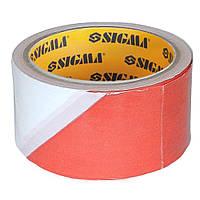 Лента сигнальная 50мм×100м Sigma (8423441)