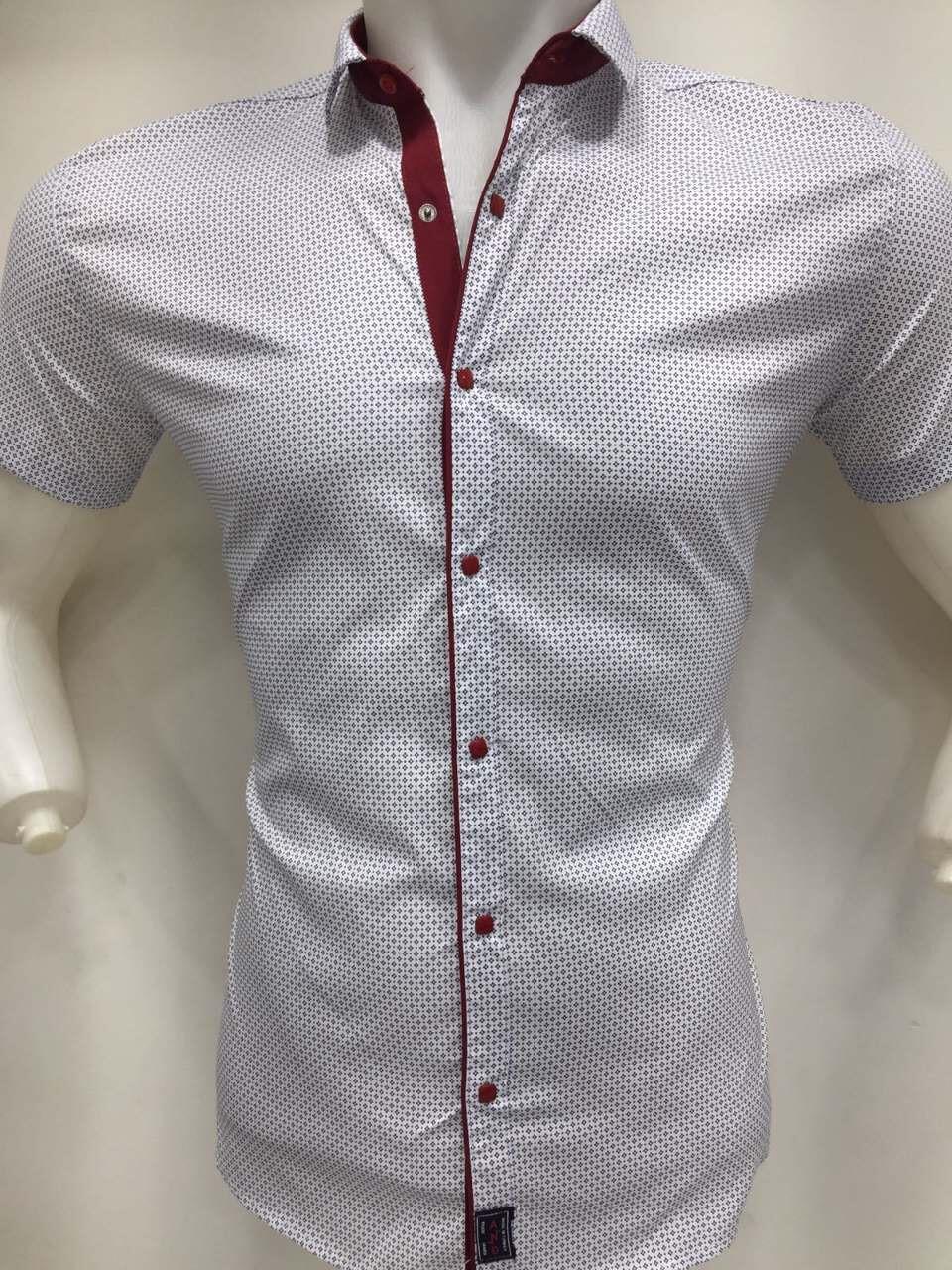 Біла сорочка короткий рукав AND з принтом