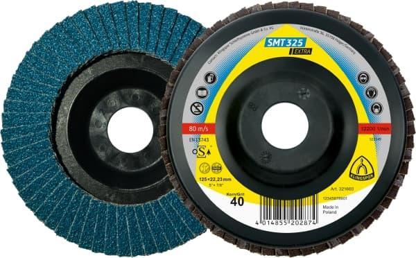 Пелюстковий тарілчастий коло Klingspor SMT 325 125X22,23 Р60 прямий