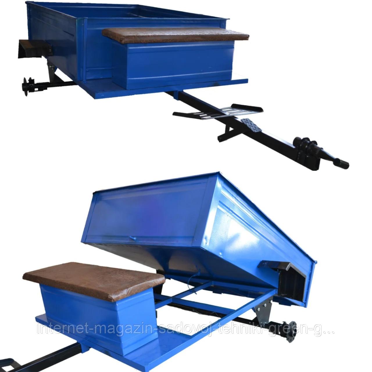 Прицеп откидной с тормозами Булат 1050Х1250 (универсальная ступица)