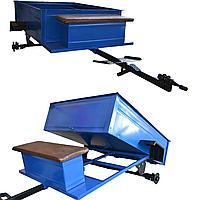 Прицеп откидной с тормозами Булат 1050Х1250 (универсальная ступица), фото 1
