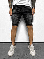 Мужские джинсовые шорты темно-серые Black Island 3324-1132