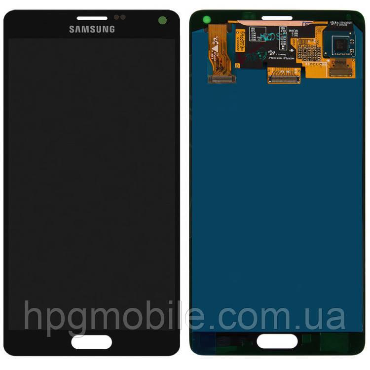 Дисплей для Samsung Galaxy Note 4 N910, модуль в сборе (экран и сенсор), серый, оригинал